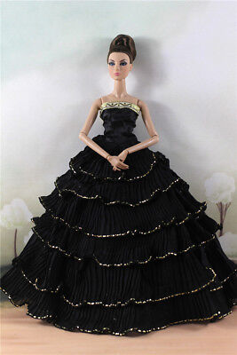 Fashion Party Dress/Wedding Clothes/Gown For 11 in. Doll d24