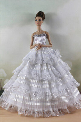Fashion Party Dress/Wedding Clothes/Gown For 11 in. Doll d25