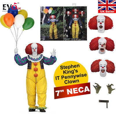 """7"""" NECA Stephen King's IT Pennywise Clown 1990 Ultimate Action Figure 1:12"""