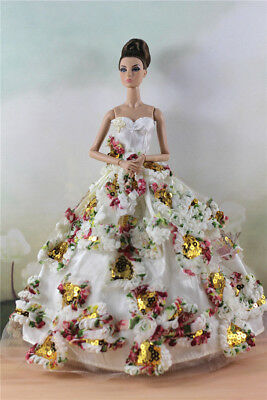 Fashion Party Dress/Wedding Clothes/Gown For 11 in. Doll d29