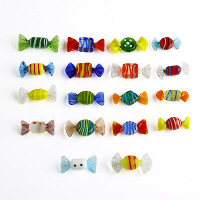 18pcs Vintage Murano Glass Sweets Wedding Party Candy Christmas Decorations Gift