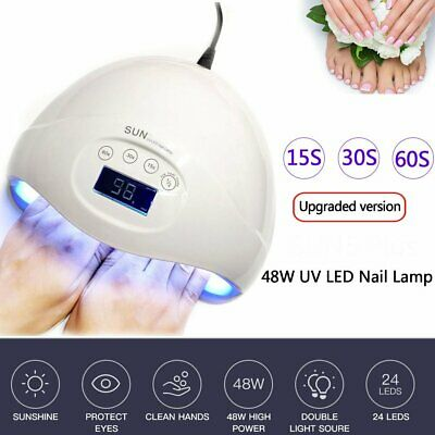 48W LED UV Nail Lamp Light Gel Nail Polish Nail Dryer 24LED Manicure Smart Senor
