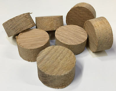European Oak Hardwood Plugs Various sizes 19 - 50MM -  Tapered Pellets