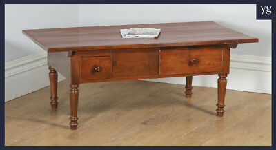 Antique French Cherry Wood Provincial Rectangular Centre Coffee Side Table c1860