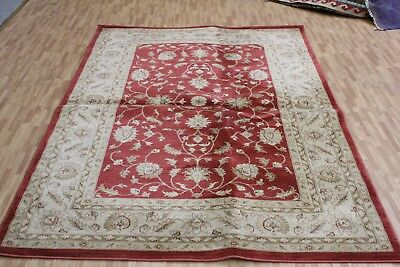 A FABULOUS OLD MACHINE MADE ORIENTAL RUG (230 x 160 cm)