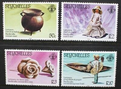 SEYCHELLES 1984 Traditional Handicrafts. Set of 4. Mint Never Hinged. SG579/582.