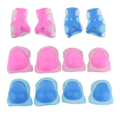 12Pcs Kids Knee Elbow Pads Wrist Protective Guards Skateboard Scooter Bike