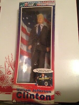 New Bill Clinton talking collectible doll