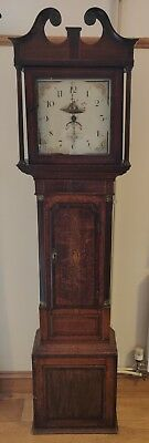 Antique 30 hour Mahogany (w/ inlay) Grandfather Longcase Clock