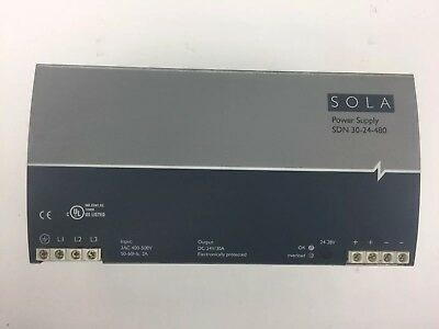 Sola Sdn 30-24-480 Power Supply Input 3Ac 400-500V 50-60Hz 2A Output Dc 24V/30A