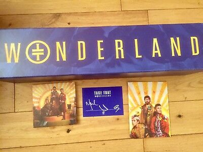 Take That Signed Wonderland Exclusive Super Deluxe Boxset- Proof Provided