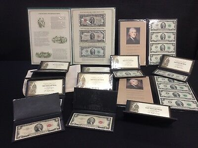 United States $2 Note Collection, Various Dates Including Uncut Blocks