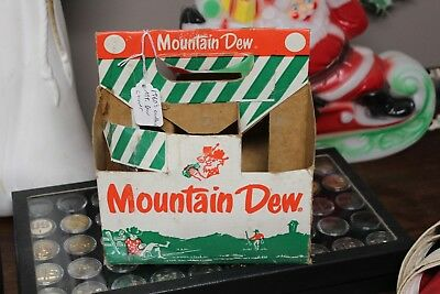 Vintage 1960's Mountain Dew Hillbilly 6 pack bottle cardboard carrier soda pop