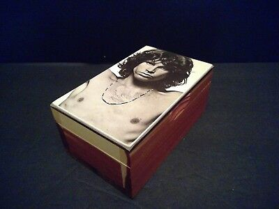 The Doors Jim Morrison Rock Icon Cedar Wood Hinged Tobacco Stash Box Rare!