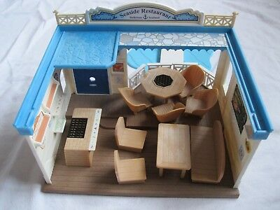 Sylvanian Families Lovely Seaside Restaurant Doll's House Toy, boxed