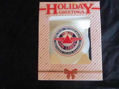Vintage Delta Air Lines Trans Southern  Holiday Greetings Christmas Tree Ball
