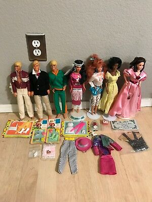 Vintage Barbie And Ken Doll Clothes Accessories HUGE Lot VERY RARE Pieces!! 60's