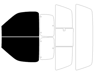 PreCut All Sides Window Film Any Tint Shade for Ford Ranger Standard Cab 2001-11