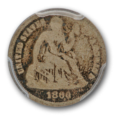 1860-O 10C Liberty Seated Dime PCGS G-4 CAC Approved Good Key Date