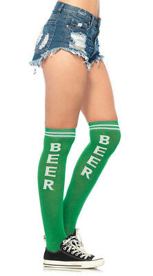 One Size Fits Most Womens Beer Time Knee High Socks, Funny Socks
