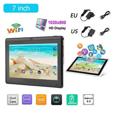 7 Inch Tablet PC 1.3MP Android 4.4 A33 Quad Core 4GB ROM 512MB RAM WiFi G-Sensor