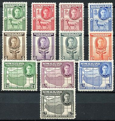 Somaliland 1942 issue, SG 105 - 116, Mint Hinged & Never Hinged, CV £48