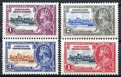 Somaliland 1935 Jubilee, SG 86 - 89, Mint Hinged