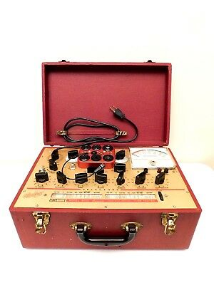 Vintage Old Antique Near Mint Hickock Tube Tester Radio Or Television & Working