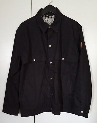 Penfield Trailwear Women's Black Hudson Wax Cloth Snap Front Jacket Size Large L