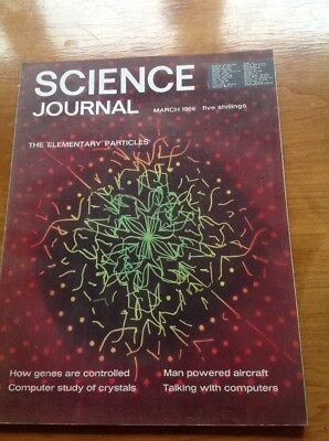 Science Journal March 1966 Vintage magazine Man Powered Aircraft Crystals