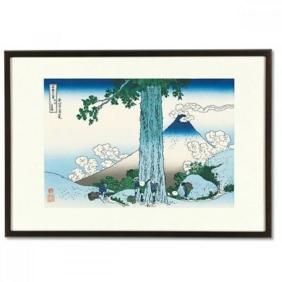 Hokusai Woodblock Print - Mishima Pass in Kai Province - 36 Views of Mt. Fuji