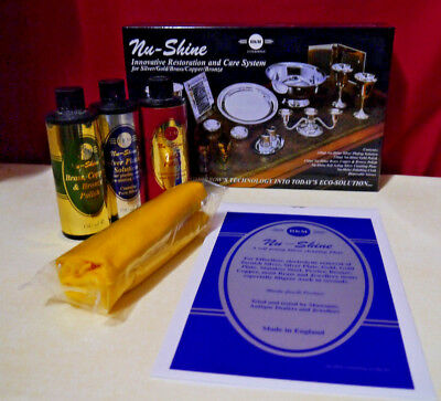 New Cleaning Kit Gold Silver Brass Copper Bronze Liquids & Silver Plate