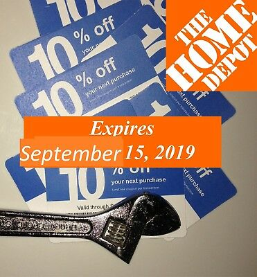 20 Lowes 10% Blue Card Coupons for Home Depot only Expires 9/15/2019 SEPTEMBER
