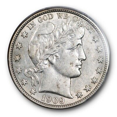 1909-O 50C Barber Half Dollar PCGS AU 50 About Uncirculated New Orleans