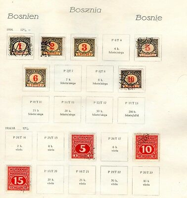 Early Bosnian-Austrian Stamp Duties/ Hinged On Page.(1904 Onwards)