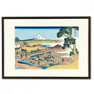Hokusai Woodblock Print - The Tea Plantation of Katakura - 36 Views of Mt. Fuji