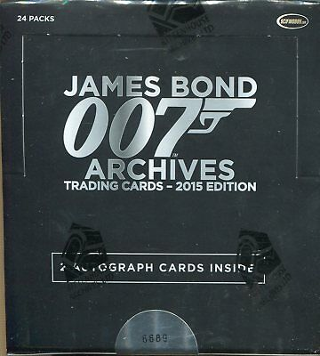 James Bond Archives 2015 Factory Sealed Trading Card Hobby Box