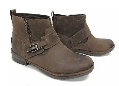 700a53d8b17 UGG AUSTRALIA CHEYNE Coconut Shell LEATHER WATERPROOF DUCK ANKLE BOOTS  1095154