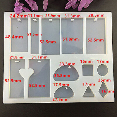 Silicone Mold Resin DIY Jewelry Pendant Necklace Tool Mould Craft Casting White