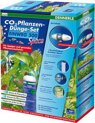 Dennerle CO2 Pflanzen Dünge Set Jetable 300 Space Set Complet - CO2 Bouteille -