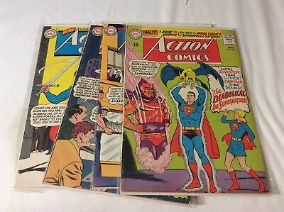 Lot of 4 Action Comics # 328, 329, 330, 331 Featuring Superman
