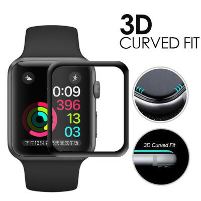 ✅ Apple Watch 4 44mm 3D Full Cover Safety Glass 9H Vollklebend Screen Protector✅