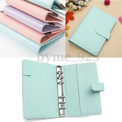 3 Colors A6 Loose Leaf Ring Binder Notebook Weekly Monthly Planner Diary 19x13cm