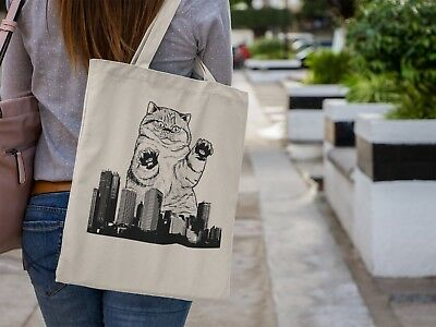 Taco Cat Kitten Cute Humour hopping Grocery Reusable Tote Hand Bag TB02