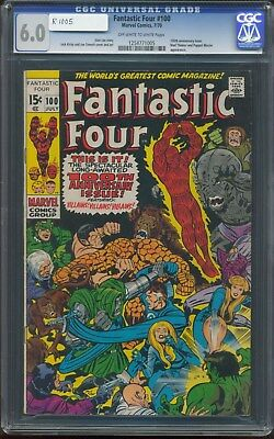 Fantastic Four 100 Mad Thinker And Puppet Master  Appearance Cgc-6.0 Fine