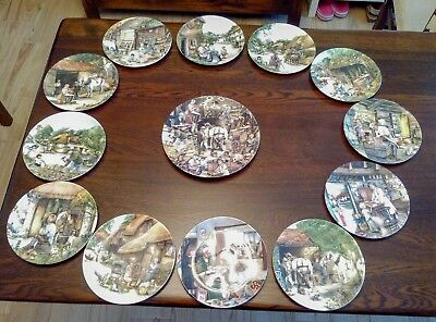 13 x ROYAL DOULTON Collectable Bone China Plates OLD COUNTRY CRAFTS