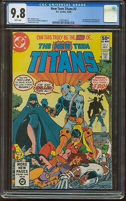 THE NEW TEEN TITANS #2 1st Appearance DEATHSTROKE the TERMINATOR 1980 CGC 9.8