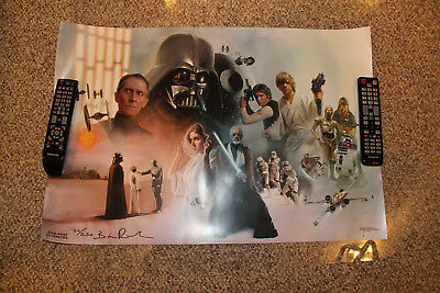 """Star Wars Celebration Anaheim Exclusive """"A New Hope"""" Print By Brian Rood 134/250"""