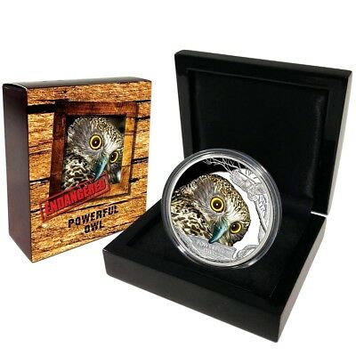 Endangered & Extinct 2017 $1 Powerful Owl 1oz Silver Proof 40.60mm 5000 Limit ED