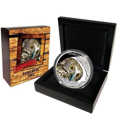 Endangered & Extinct 2018 $1 Powerful Owl 1oz Silver Proof 40.60mm 5000 Limit ED
